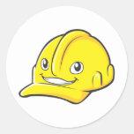 Capacete de segurança do amarelo do engenheiro do adesivo