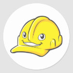Capacete de segurança do amarelo do engenheiro do adesivos em formato redondos