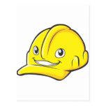 Capacete de segurança do amarelo do engenheiro do  cartão postal