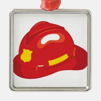 Capacete do fogo ornamento de metal