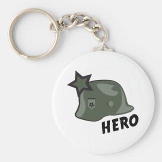 Capacete do herói chaveiros