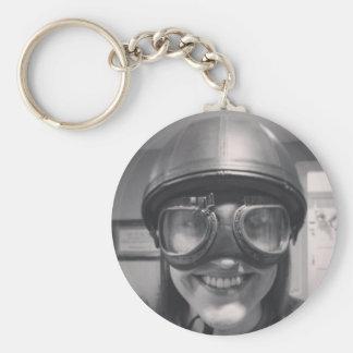 capacete engraçado chaveiro