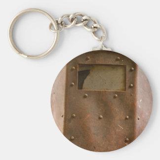 Capacete oxidado da soldadura chaveiro