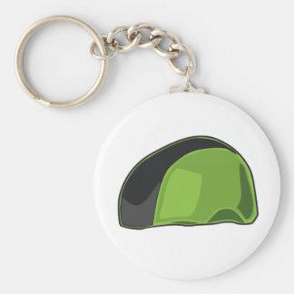 Capacete verde chaveiros