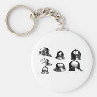 capacetes medievais chaveiro