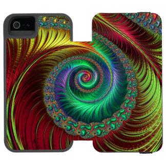 Capas de iphone abstratas do redemoinho capa carteira incipio watson™ para iPhone 5