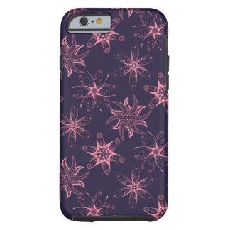 Capas de iphone abstratas florais cor-de-rosa