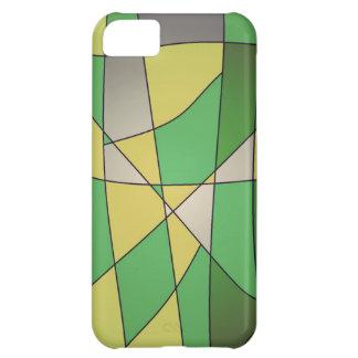 Capas de iphone abstratas verdes capa para iPhone 5C