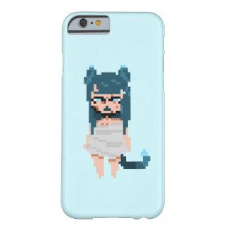 Capas de iphone azuis 6/6s de Catgirl simples