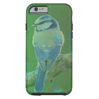 Capas de iphone azuis bonito do verde do pássaro