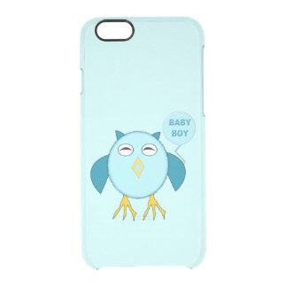 Capas de iphone azuis bonitos da coruja do bebé