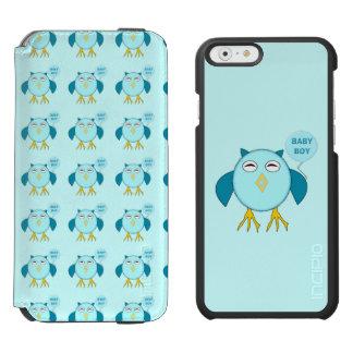 Capas de iphone azuis bonitos da coruja do bebé capa carteira incipio watson™ para iPhone 6