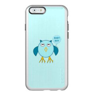 Capas de iphone azuis bonitos da coruja do bebé capa incipio feather® shine para iPhone 6