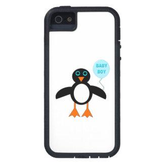 Capas de iphone azuis bonitos do pinguim do bebé