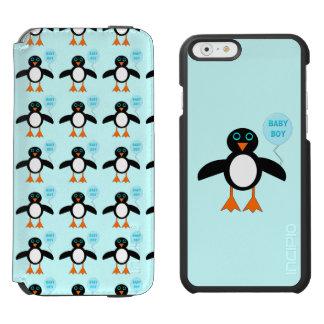 Capas de iphone azuis bonitos do pinguim do bebé capa carteira incipio watson™ para iPhone 6