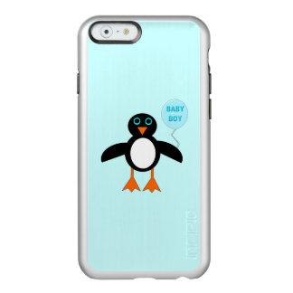 Capas de iphone azuis bonitos do pinguim do bebé capa incipio feather® shine para iPhone 6