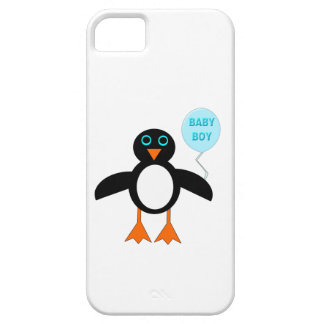 Capas de iphone azuis bonitos do pinguim do bebé capa para iPhone 5