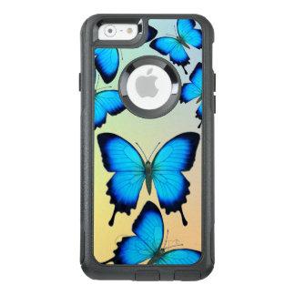 Capas de iphone azuis de Otterbox da borboleta de