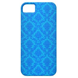 Capas de iphone azuis do damasco do vintage capa barely there para iPhone 5