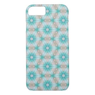 Capas de iphone azuis do teste padrão de flor