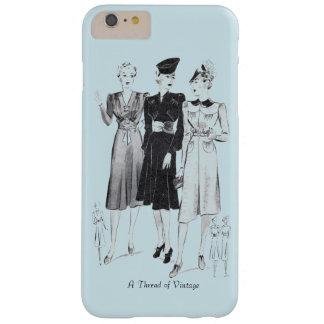 Capas de iphone azuis do vintage - modelos capa barely there para iPhone 6 plus