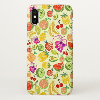 Capas de iphone bonitos do teste padrão das frutas