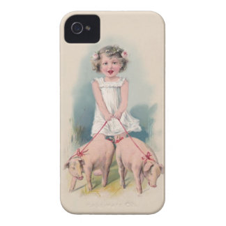 Capas de iphone bonitos do vintage - porcos de capinhas iPhone 4
