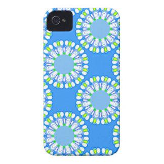 Capas de iphone coloridas azuis retros de flower capinhas iPhone 4