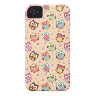 Capas de iphone coloridas bonitos das corujas capa para iPhone