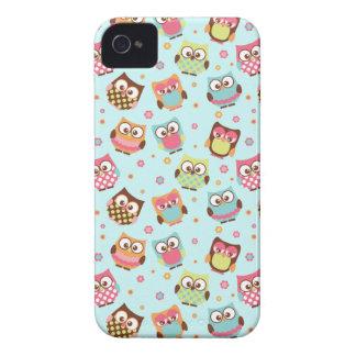 Capas de iphone coloridas bonitos das corujas (luz capinha iPhone 4