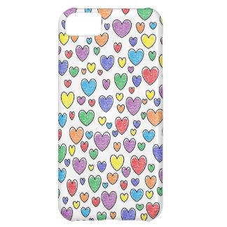 Capas de iphone coloridas dos corações