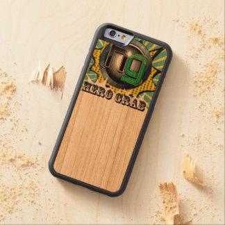 Capas de iphone cómicas de madeira do logotipo da