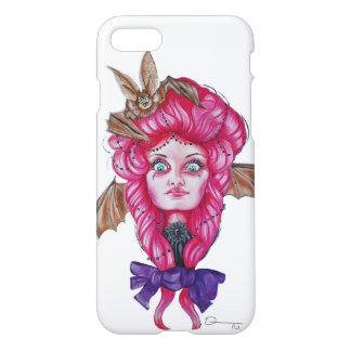 Capas de iphone cor-de-rosa da menina do bastão
