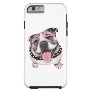 Capas de iphone cor-de-rosa da pilha do cão do