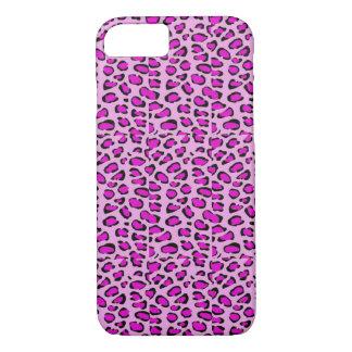Capas de iphone cor-de-rosa do leopardo