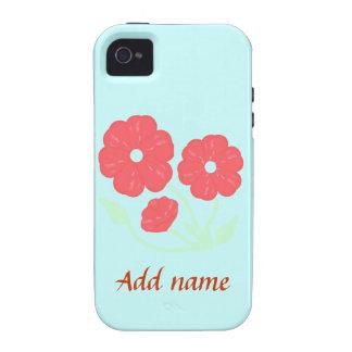 Capas de iphone cor-de-rosa florais retros capinhas para iPhone 4/4S