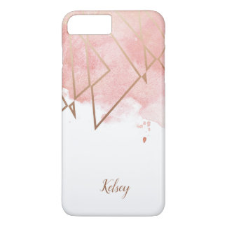 Capas de iphone cor-de-rosa geométricas modernas