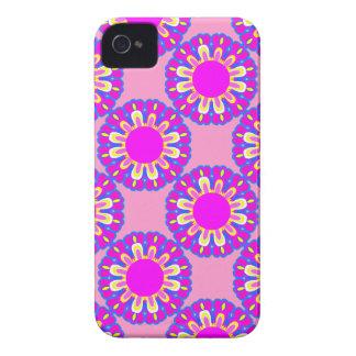 Capas de iphone cor-de-rosa retros de flower power