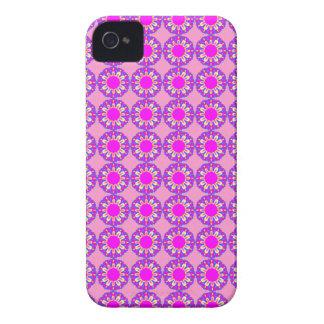 Capas de iphone cor-de-rosa retros de flower power capa para iPhone