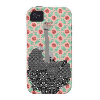 Capas de iphone da avestruz capinhas para iPhone 4/4S