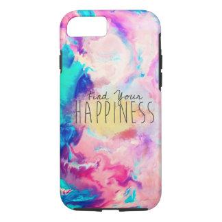 Capas de iphone da felicidade da aguarela