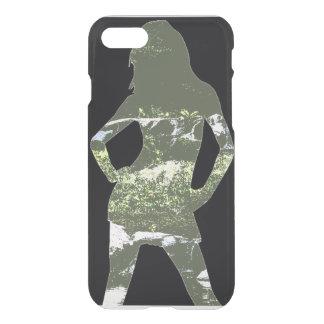 Capas de iphone da silhueta da menina da natureza