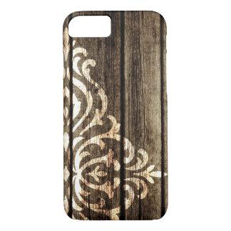 Capas de iphone de madeira do vintage do damasco
