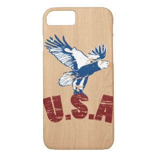 Capas de iphone de madeira dos EUA Eagle