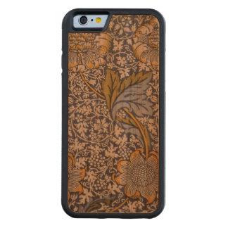 Capas de iphone de madeira florais do índigo de capa de cerejeira bumper para iPhone 6