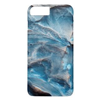 Capas de iphone de mármore azuis do design