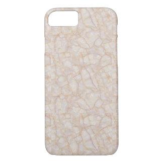 Capas de iphone de mármore de creme do impressão