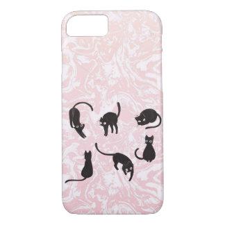 Capas de iphone de mármore do gato