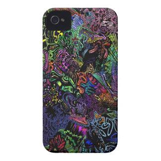 capas de iphone de néon abstratas capa para iPhone 4 Case-Mate
