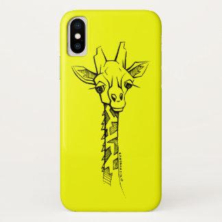 Capas de iphone desenhados mão do girafa no estilo